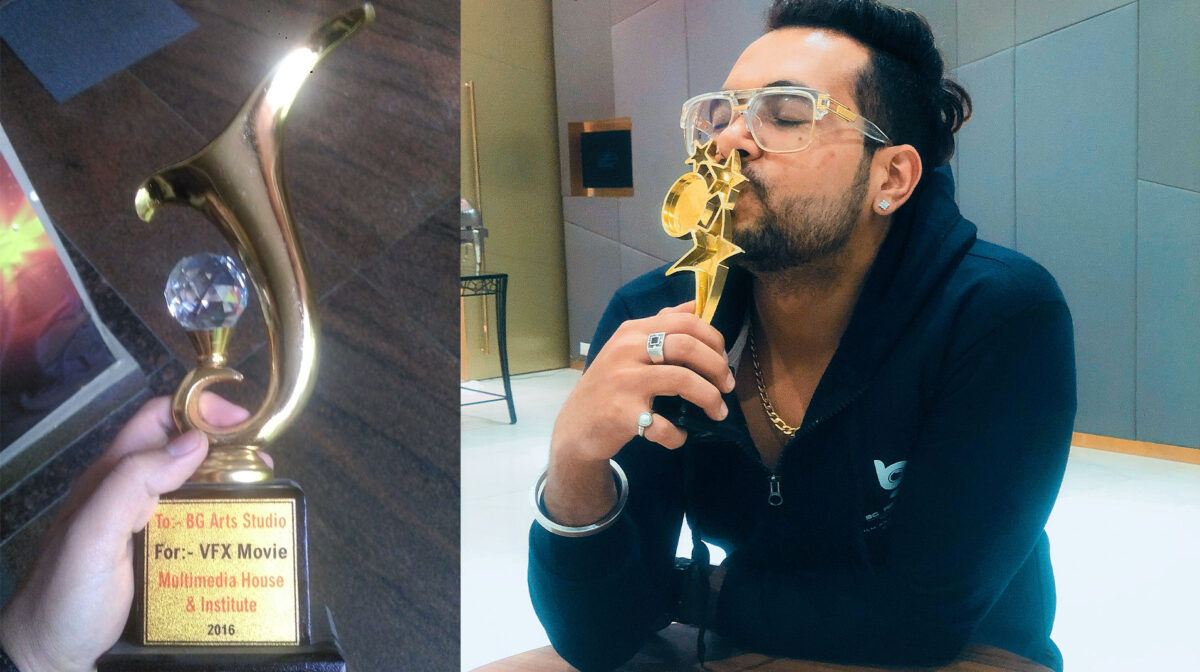 Award with Vaibhav Bajaj